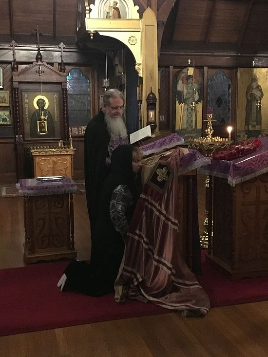 A prayer service with the mantia of St. John of Shanghai
