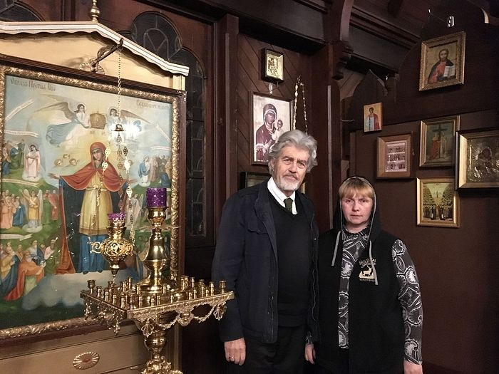 With George Alexandrovich Sheremetev at San Francisco's Old Cathedral