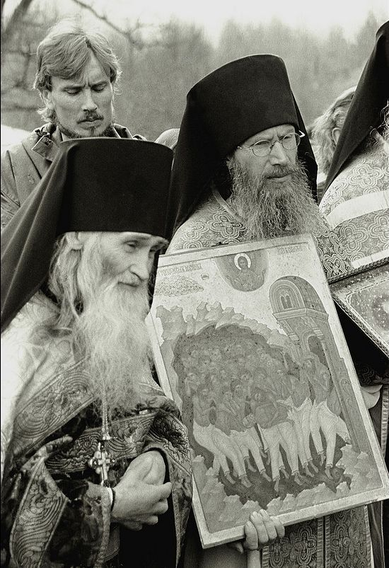 Elder Iliy and the skete abbot Igumen Tikhon (Borisov)