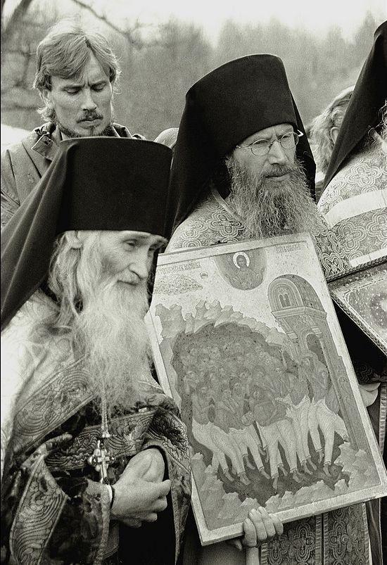 Elder Iliy and the skete abbot Igumen Tikhon (Borisov)