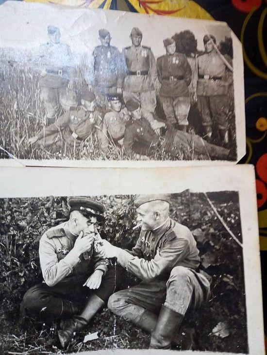 Отец Ирины Николаишвили с фронтовыми товарищами