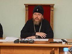 Встреча митрополита Тихона с представителями псковских СМИ