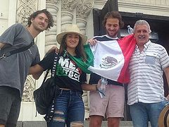 500 Mexican soccer fans visit giant Ascension Cathedral in Novocherkassk