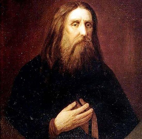 Преподобный Серафим Саровский. Неизвестный художник, 1860-е – 1870-е годы. Изображение с сайта pinterest.es