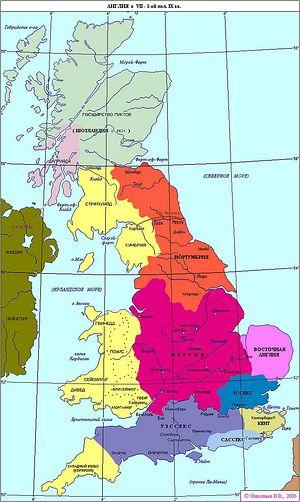 Англия в 7-10 веках