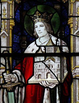 Изображение св. Эдвина в церкви св. Марии в Следмере, Восточный Райдинг Йоркшира
