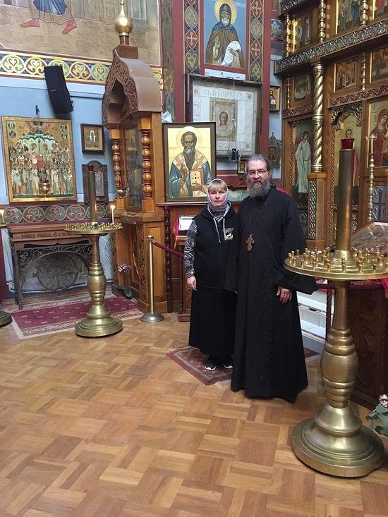 С отцом Петром Перекрестовым в соборе Всех скорбящих Радость