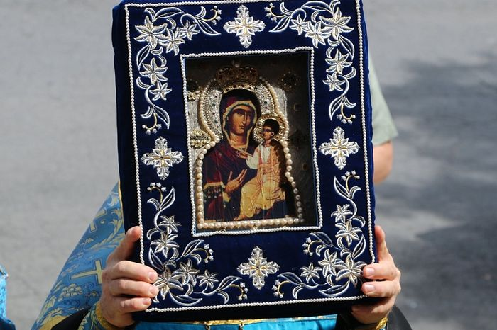 Гавайская Иверская мироточивая икона Пресвятой Богородицы