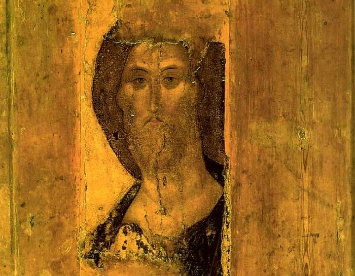 Andrei Rublev. Christ the Redeemer ca. 1410 (Tretyakov Gallery, Moscow). Photo: wikipedia.org