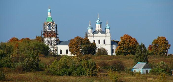 Храм святителя Николая в селе Печерниковские выселки, где служил отец протоиерея Димитрия Акинфиева