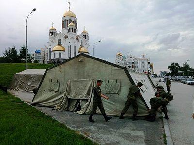 Палаточный городок в центре Екатеринбурга откроется для паломников на Царские дни