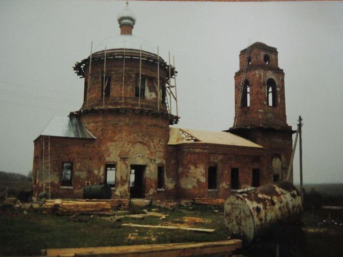 храм Спаса Нерукотворного образа в Курыничах до восстановления