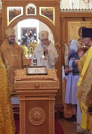 Епископ Орехово-Зуевский Пантелеимон и епископ Сурожский Матфей в храме святителя Николая в Оксфорде