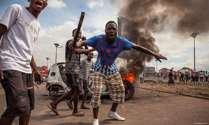 Street disturbances in Congo