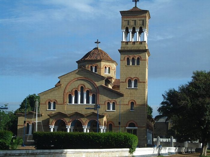 A Greek Orthodox church in Lubumbashi, the second largest city of Congo