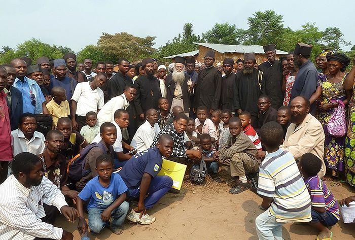 Orthodox clergy in Congo