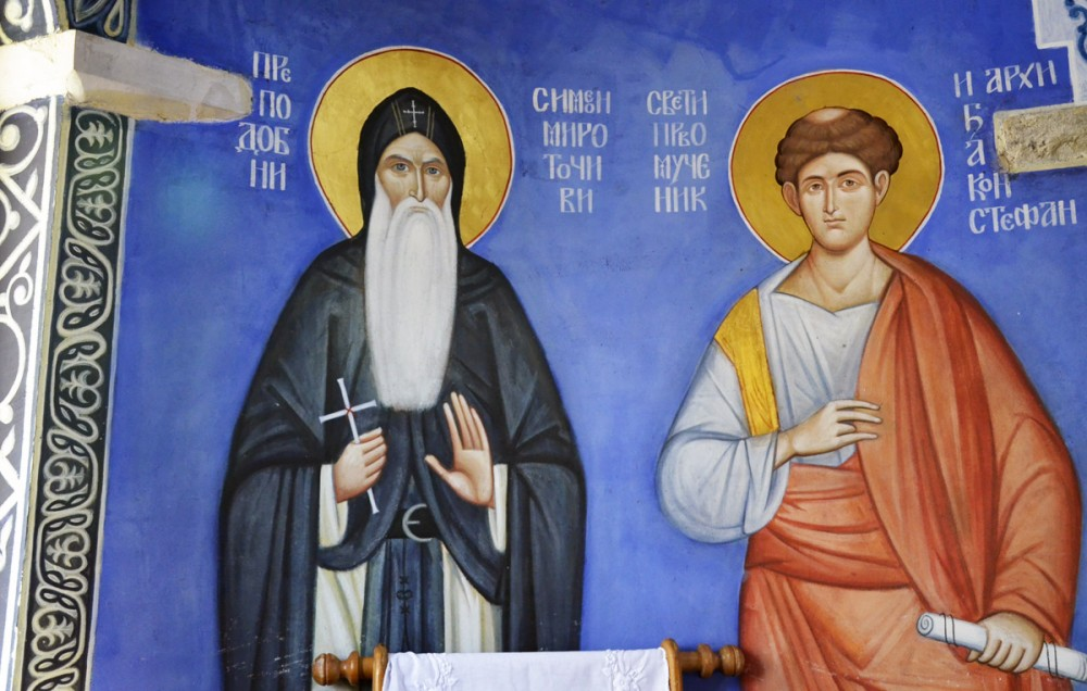St. Symeon the Myrrhgusher and the Proto-Martyr Archdeacon Stephen