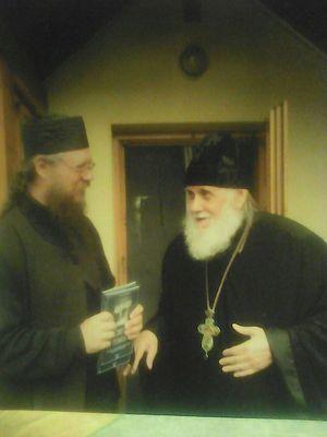 Протоиерей Дионисий Астахов со схиархимандритом Тихоном (Муртазовым)