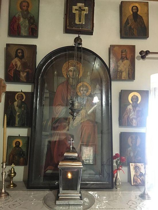 Чудотворная икона Пресвятой Богородицы, перед которой молился святитель Нектарий Эгинский