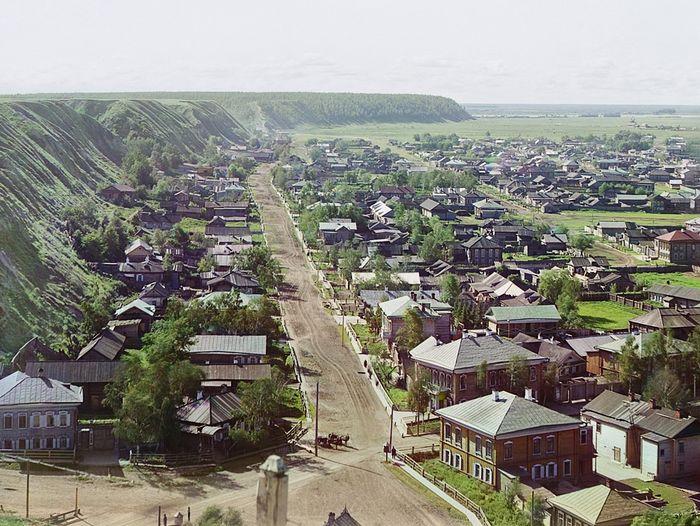 Вид на г. Тобольск от Успенского собора с сев.-западной стороны