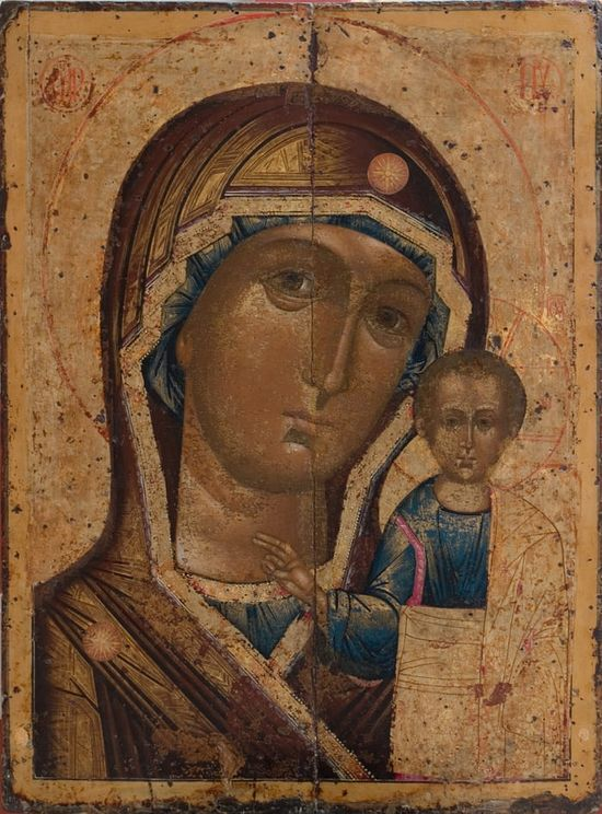 The icon of the Holy Trinity Cathedral is one of the earliest copies of the wonderworking original icon. It was painted in the eighteenth century. It was subsequently repeatedly repainted. The original image (of this copy) was thus hidden under several layers of paint. In 2005, the icon was restored