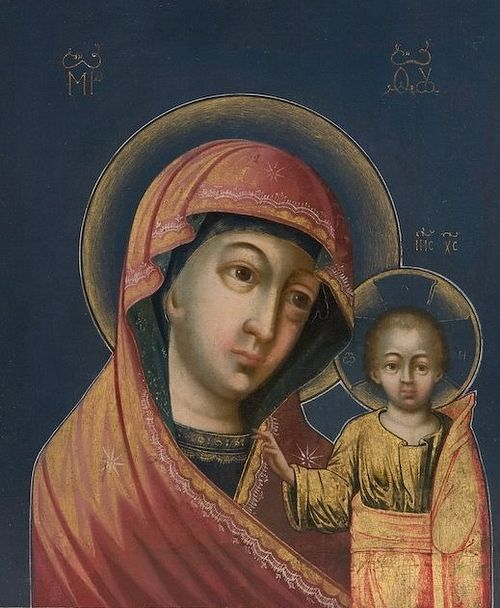 The Kazan icon of the Theotokos. Moscow, the first half of the eighteenth century