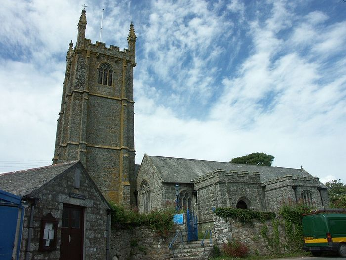 St. Breaga's Church in Breage, Cornwall