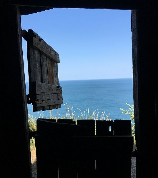 A view within Hawker's hut in Morwenstow, Cornwall (kindly provided by the churchwarden of Morwenstow parish)