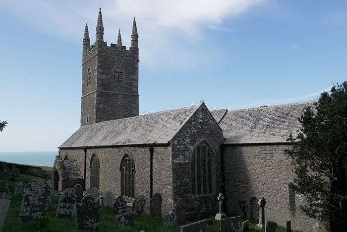 Exterior of the Morwenstow church, Cornwall (photo provided by the assistant curate of Morwenstow)
