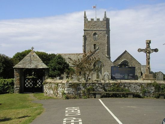 St. Marwenne's Church in Marhamchurch, Cornwall