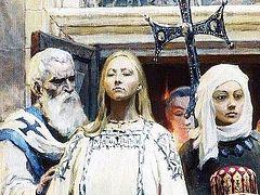 Святая Ольга и двери храма, открытые для нас
