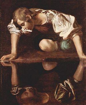 Narcissus, c.1599. Artist: Caravaggio. Photo: Wikipedia