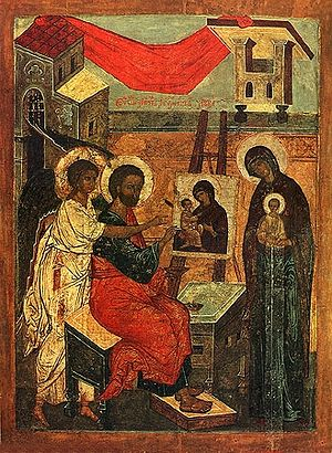 Evangelist Luke, painting an icon of the Theotokos. Photo: Wikipedia