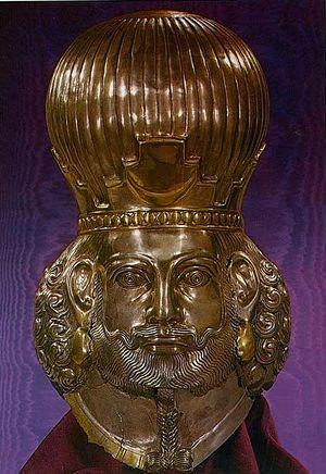 Голова Шапура II. Скульптура IV века