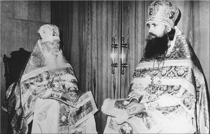 Отец Иоанн и настоятель Жировицкого монастыря архимандрит Константин