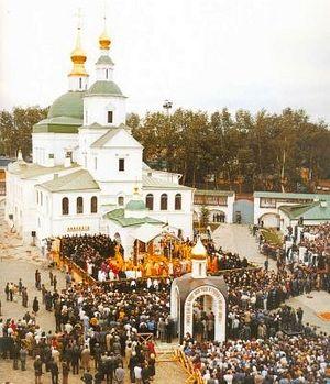 Центр празднования 1000-летия Крещения Руси. Служба в Московском Даниловом монастыре