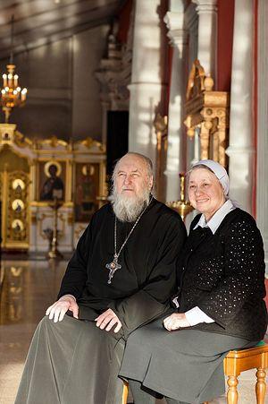 Отец Геннадий Нефедов с матушкой Ксенией