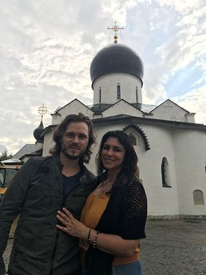 Jonathan and Elisa Jackson at the Convent of Sts. Martha and Mary in Moscow