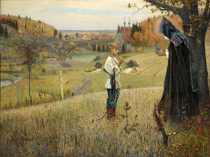 The Vision to the Youth Bartholomew (the future St. Sergius of Radonezh) by Mikhail Nesterov