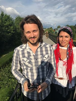 Jonathan and Elisa Jackson at the Holy Canal at the St. Seraphim's Convent in Diveevo
