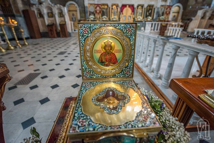 Icon and reliquary with relics of St. Vladimir, the Baptizer of Rus'