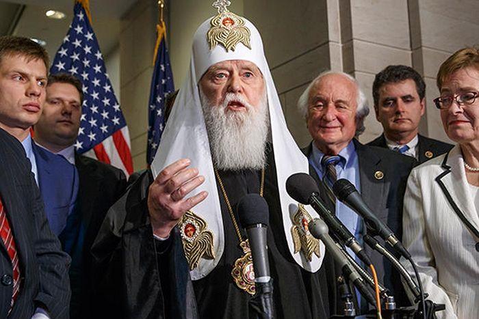 Поглавар непризнатог Кијевског патријархата Филарет у Вашингтону. Фото: J. Scott Applewhite / AP / Scanpix