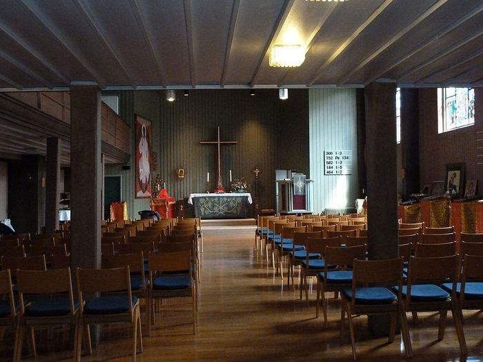 Our parish in its new church, Stuttgart-Feuerbach, May 2010