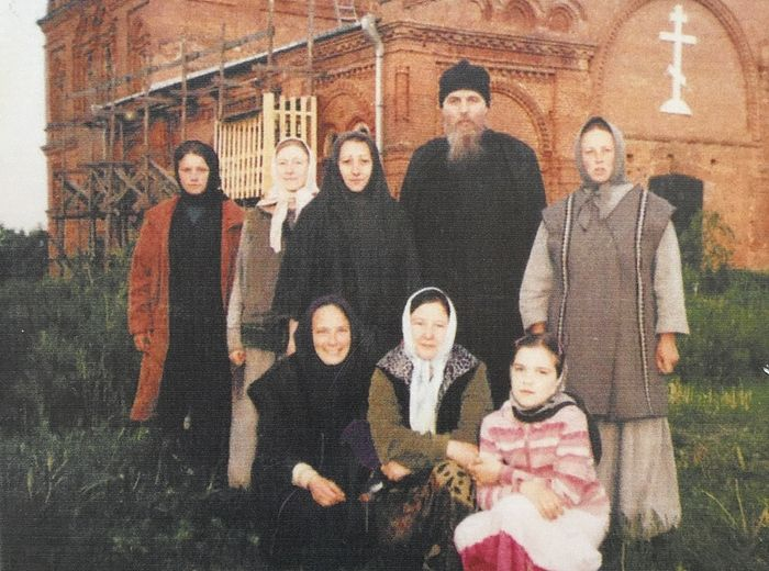 The convent's father-confessor Archimandrite Anthony with the first sisters.
