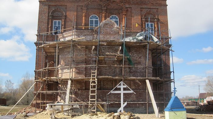 The restoration of the church.