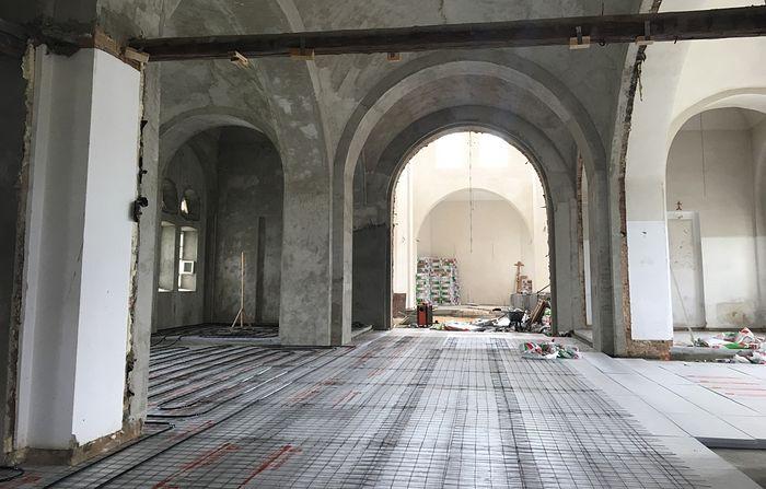 Внутренние работы в Успенском храме, на которые мы просим вас о помощи