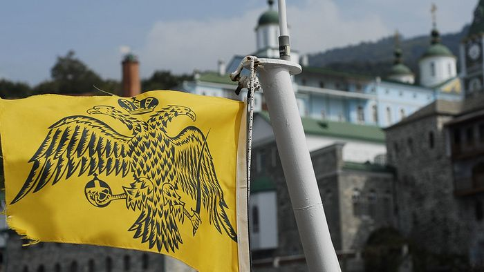 Флаг Элладской Православной Церкви. Фото: www.globallookpress.com