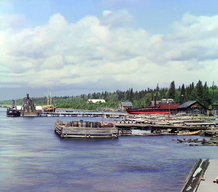 Boats on the bank of Lake Onega