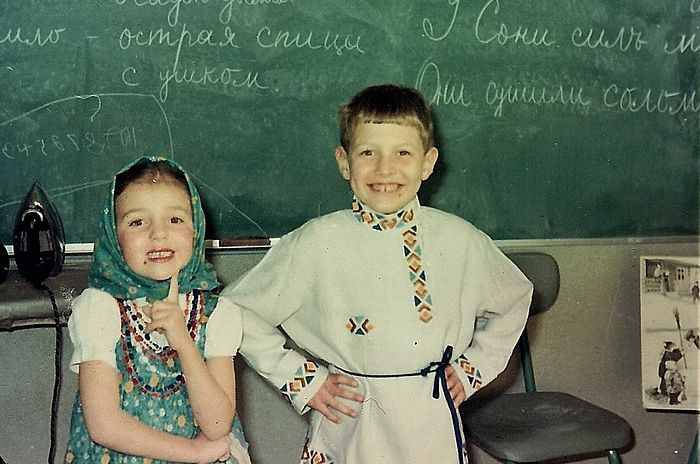Natasha and Vanya Sokoloff at the Russian school.