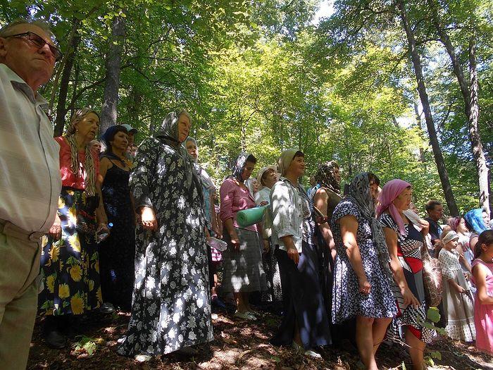 Прихожане и паломники в Монастырском источнике